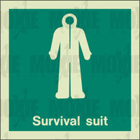 Survival Suit (150X150mm) Photoluminescent Sign