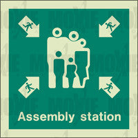 Assembly Station (150X150mm) Photoluminescent Sign