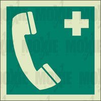 Emergency Phone (150X150mm) Photoluminescent Sign