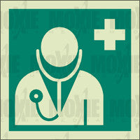 Doctor (150X150mm) Photoluminescent Sign