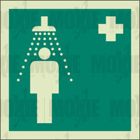 Emergency Shower (150X150mm) Photoluminescent Sign