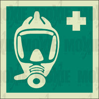 Breathing Apparatus (150X150mm) Photoluminescent Sign