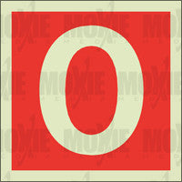 Red No. 0 (150X150mm) Photoluminescent Sign