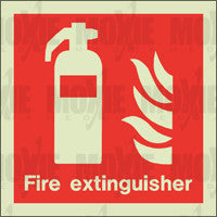 Fire Extinguisher (150X150mm) Photoluminescent Sign