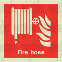 Fire Hose (150X150mm) Photoluminescent Sign
