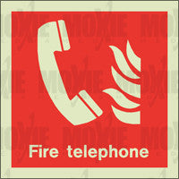 Fire Telephone (150X150mm) Photoluminescent Sign