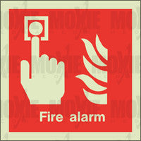 Fire Alarm (150X150mm) Photoluminescent Sign