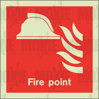 Fire Point (150X150mm) Photoluminescent Sign