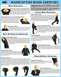 "Warm Up for Work Exercises 18""x24"" Poster"