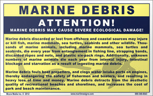 "Marine Debris:Severe Ecological Damage 5"" x 8"" Vinyl Sticker"