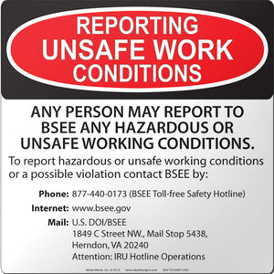 BSEE: Reporting Unsafe Work Conditions