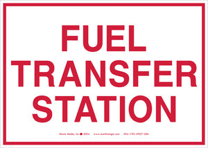"Fuel Transfer Station 5"" x 7"" Vinyl Sticker"