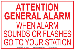 "General Alarm 4"" x 6"" Vinyl Sticker"