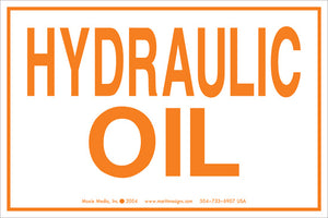 "Hydraulic Oil 4"" x 6"" Vinyl Sticker"