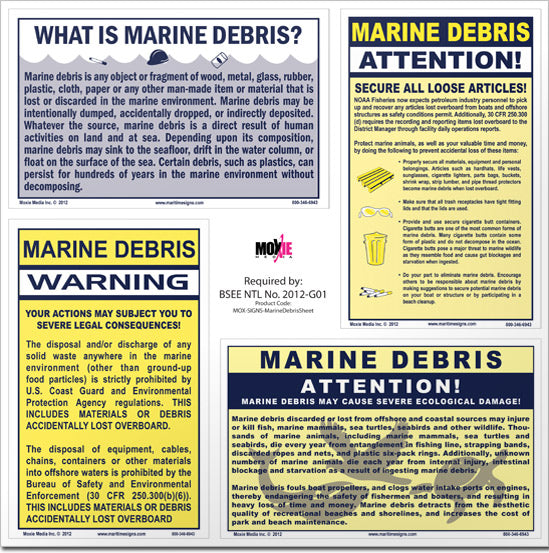 Marine Debris Signs Package