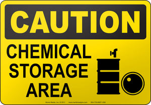 Caution: Chemical Storage Area