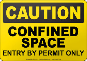 Caution: Confined Space Entry By Permit Only