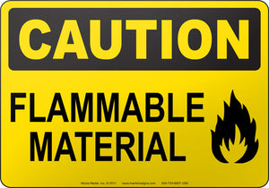 Caution: Flammable Material