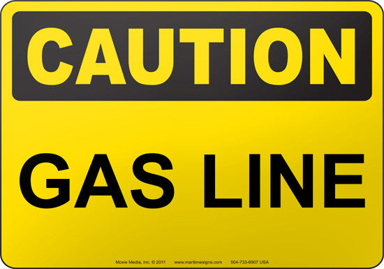 Caution: Gas Line