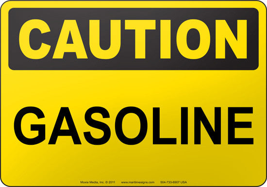Caution: Gasoline