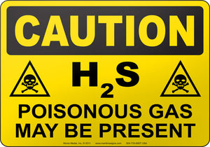 Caution: H2S Poisonous Gas May Be Present