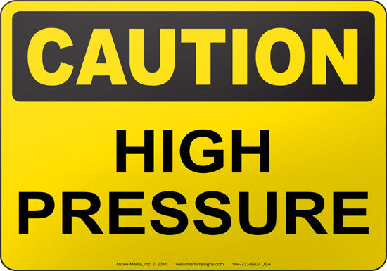Caution: High Pressure