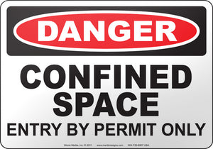 Danger: Confined Space Entry By Permit Only