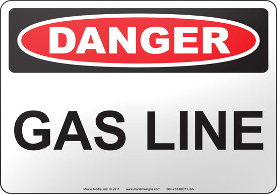 Danger: Gas Line