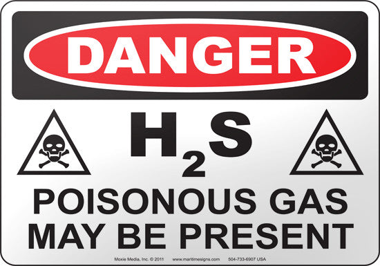 Danger: H2S Poisonous Gas May Be Present