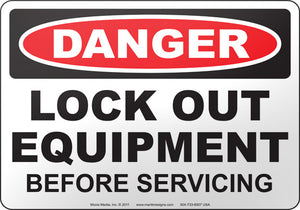 Danger: Lock Out Equipment Before Servicing