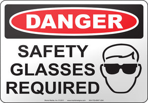 Danger: Safety Glasses Required