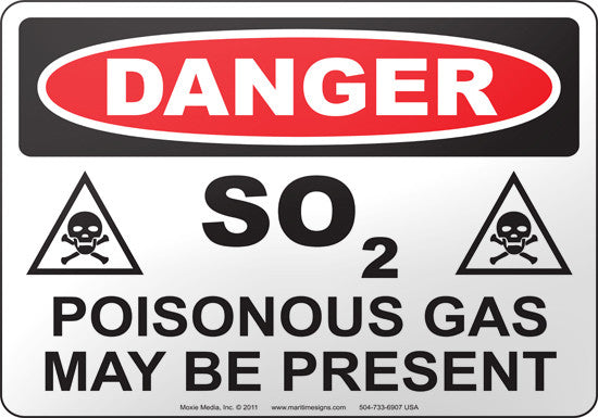 Danger: SO2 Poisonous Gas May Be Present