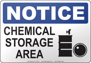 Notice: Chemical Storage Area