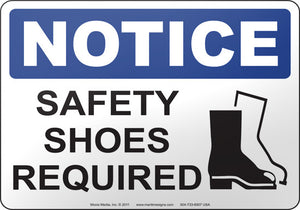 Notice: Safety Shoes Required