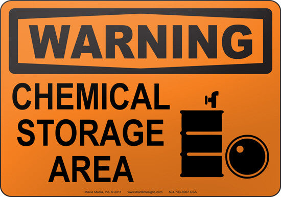 Warning: Chemical Storage Area