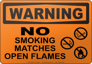 Warning: No Smoking Matches Open Flames