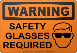 Warning: Safety Glasses Required