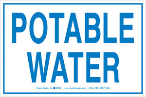 "Potable Water 4"" x 6"" Vinyl Sticker"