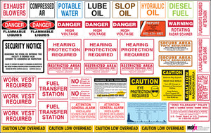 Complete Vessel Safety Signs Package