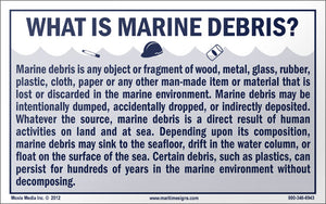 "Marine Debris: What is Marine Debris 5"" x 8"" Vinyl Sticker"