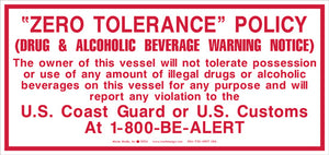 "Zero Tolerance Policy 4.5"" x 9.5"" Vinyl Sticker"