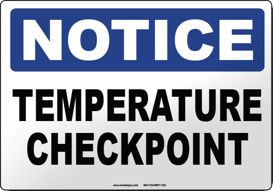 Notice: Temperature Checkpoint