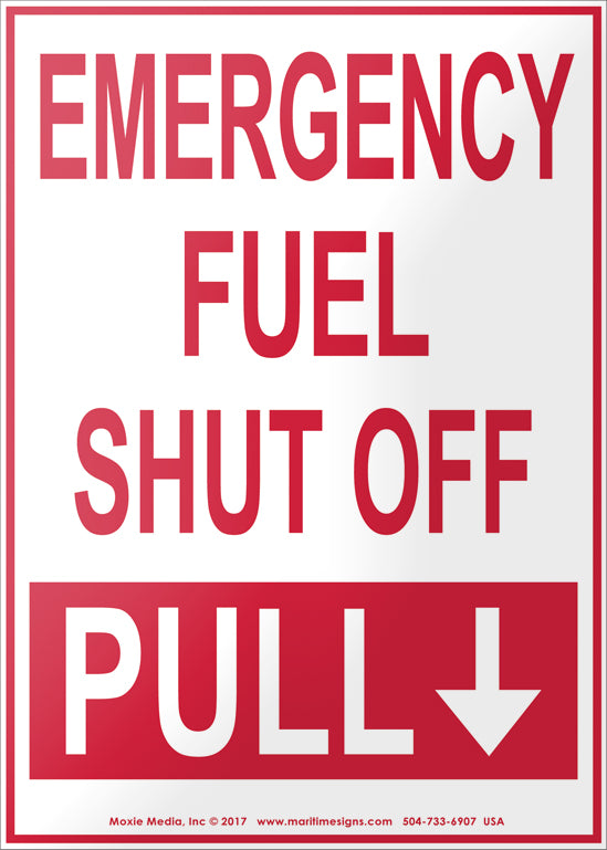 Emergency Fuel Pump Shut Off Hazard Sign Emergency Vinyl Sticker Decal 8