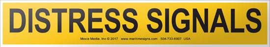 Distress Signals Container Label