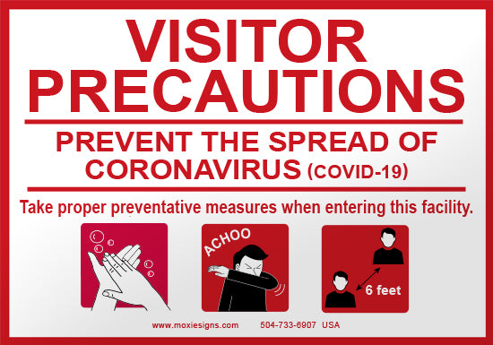 Visitor Precautions - Prevent the Spread of COVID-19