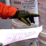 workboat crewmember using an SDS to compare to the chemicals in a hazardous substance