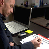 maritime supervisor writing up an evaluation