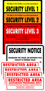 "Security Level Signs - Complete Set with Stickers (8.5"" x 11"" Card Stock)"