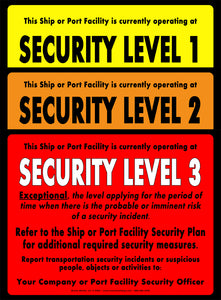 "Security Level 1, 2 & 3 Signs - 8.5"" x 11"" Card Stock (indoor use only)"