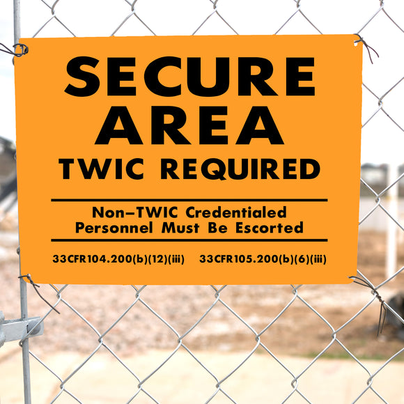 TWIC required sign on gate